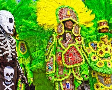 mardi gras indian skeleton